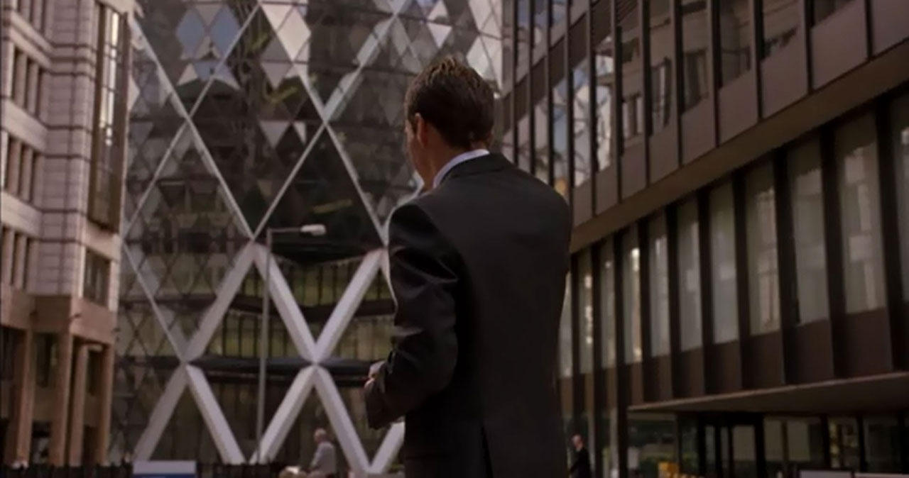 "30 St. Mary Axe (""The Gherkin""), London (UK) – Foster+parters – Film Match Point (2005)"